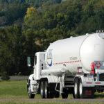 Propane Truck Driving